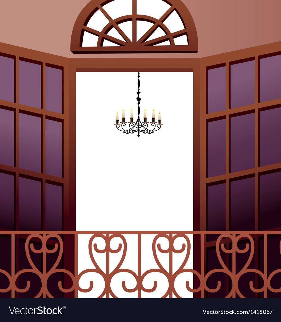 Elegant balcony vector | Price: 1 Credit (USD $1)