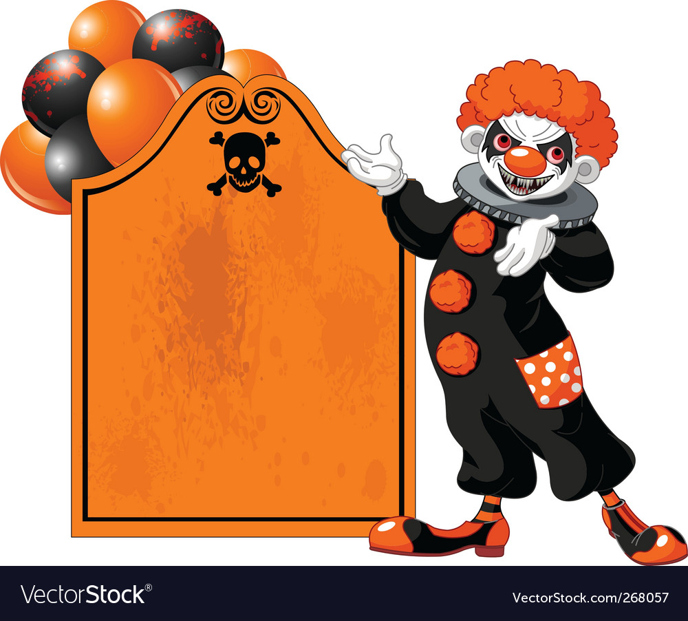 Halloween clown vector | Price: 3 Credit (USD $3)