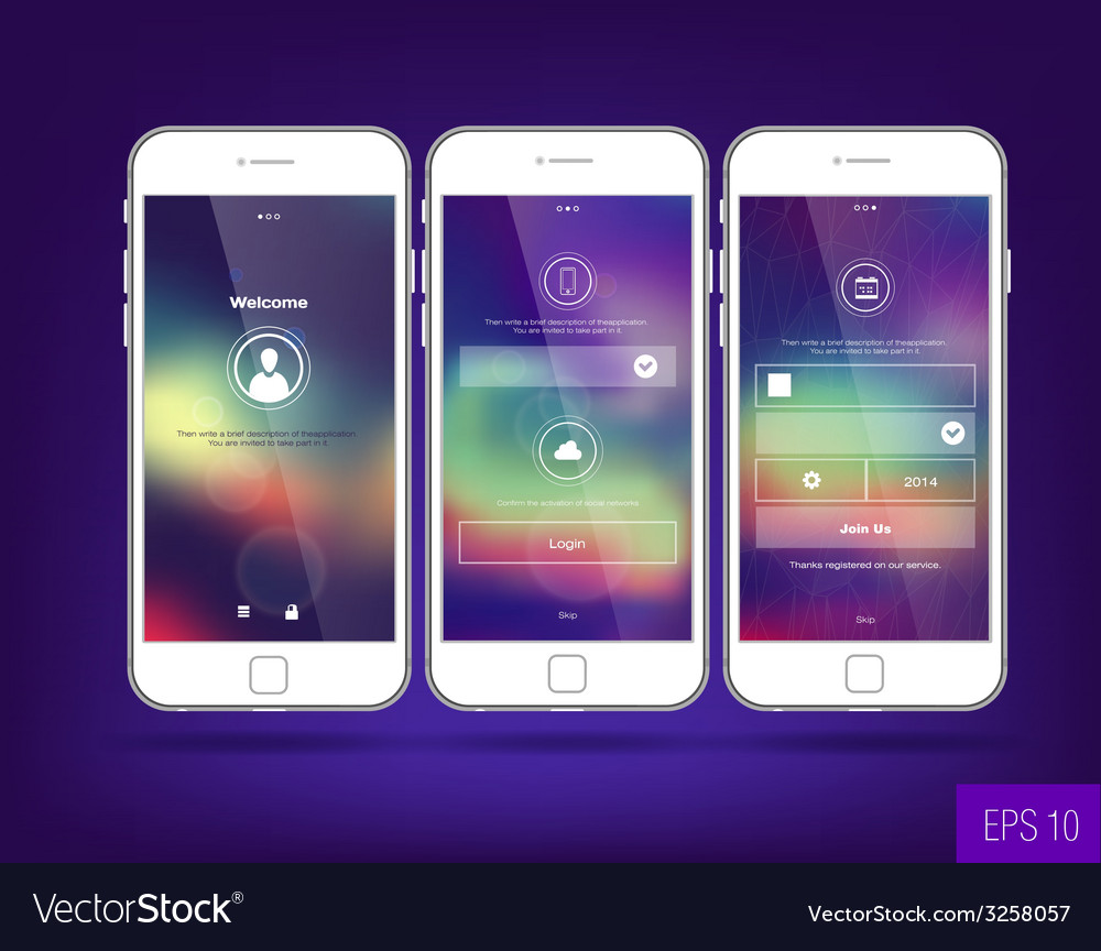Interface wallpaper design vector | Price: 1 Credit (USD $1)