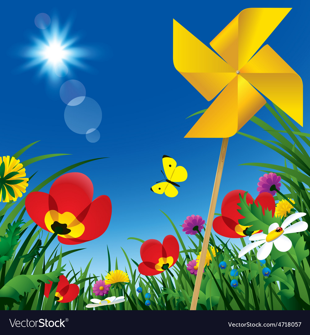 Meadow flowers vector | Price: 1 Credit (USD $1)