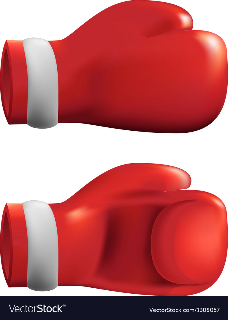 Red box gloves vector | Price: 3 Credit (USD $3)