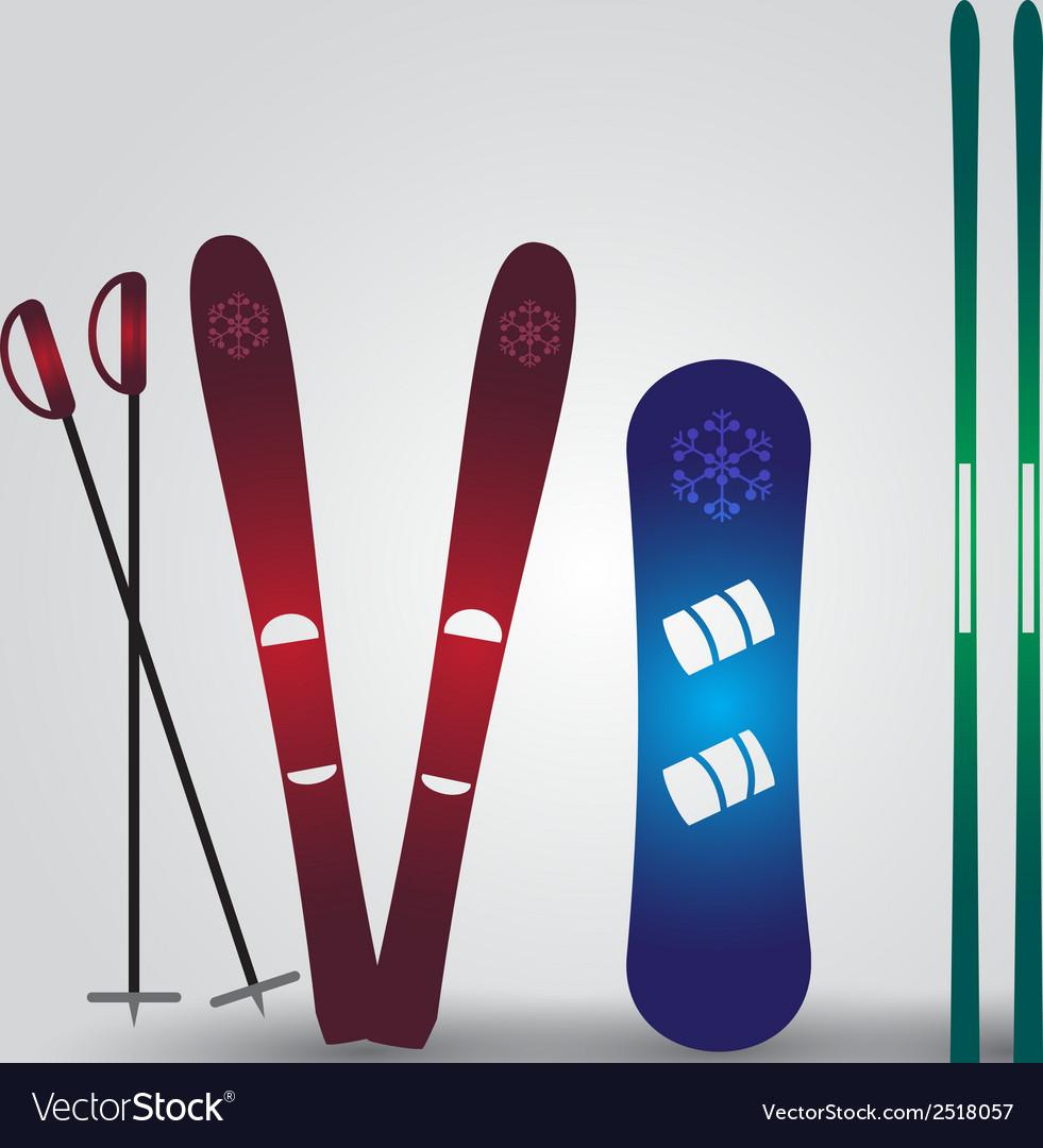Ski and snowboard eps10 vector   Price: 1 Credit (USD $1)