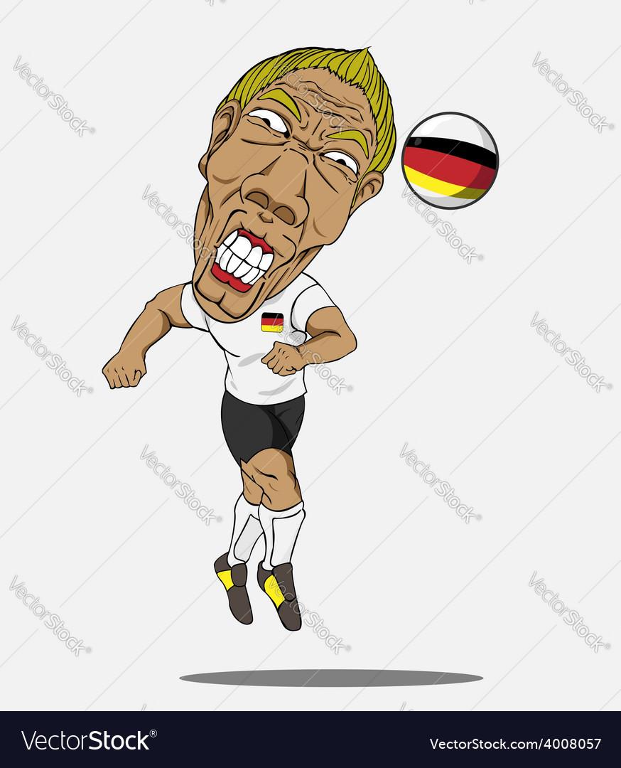 Soccer player german vector | Price: 1 Credit (USD $1)