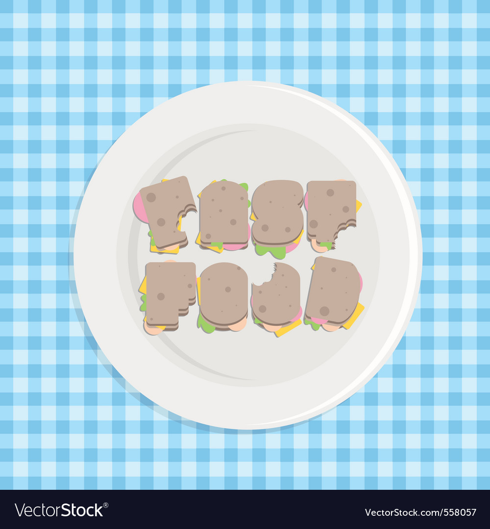 Typographic sandwiches vector   Price: 1 Credit (USD $1)