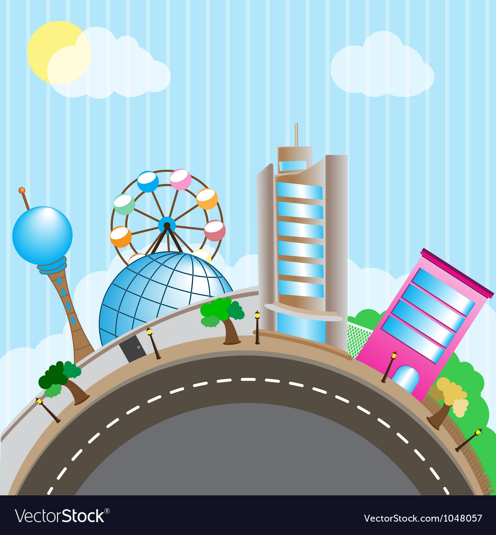 World of amusement park the vector | Price: 3 Credit (USD $3)