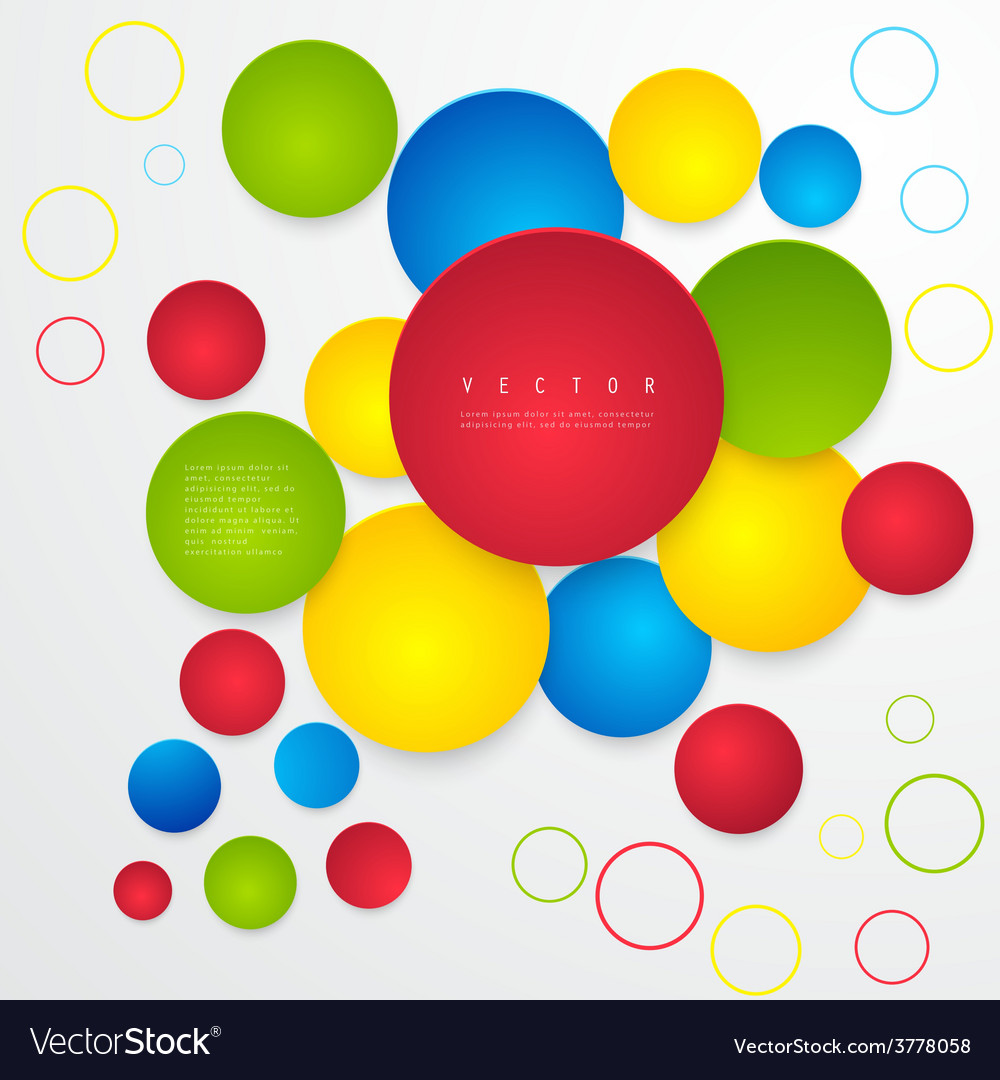Abstract geometric shape from circles vector | Price: 1 Credit (USD $1)