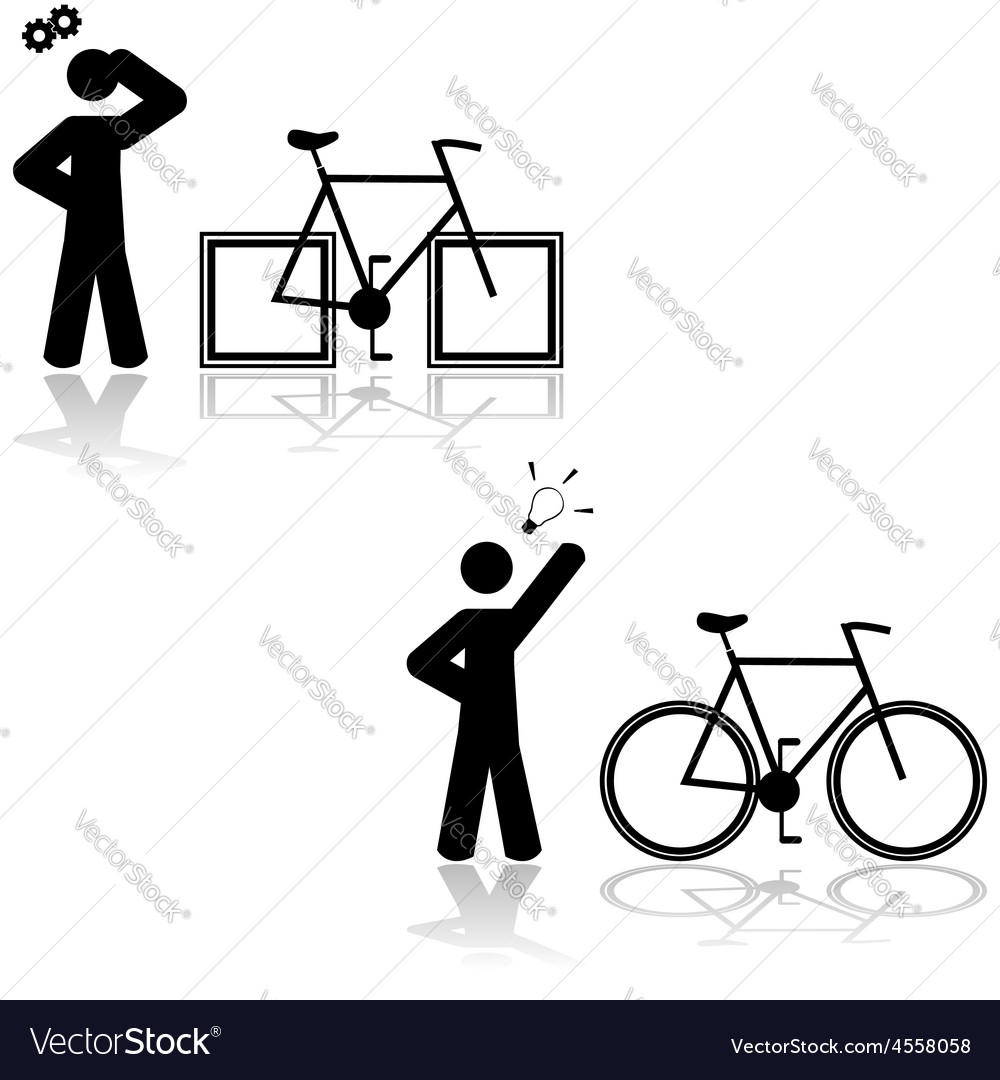 Bicycle problem vector | Price: 1 Credit (USD $1)