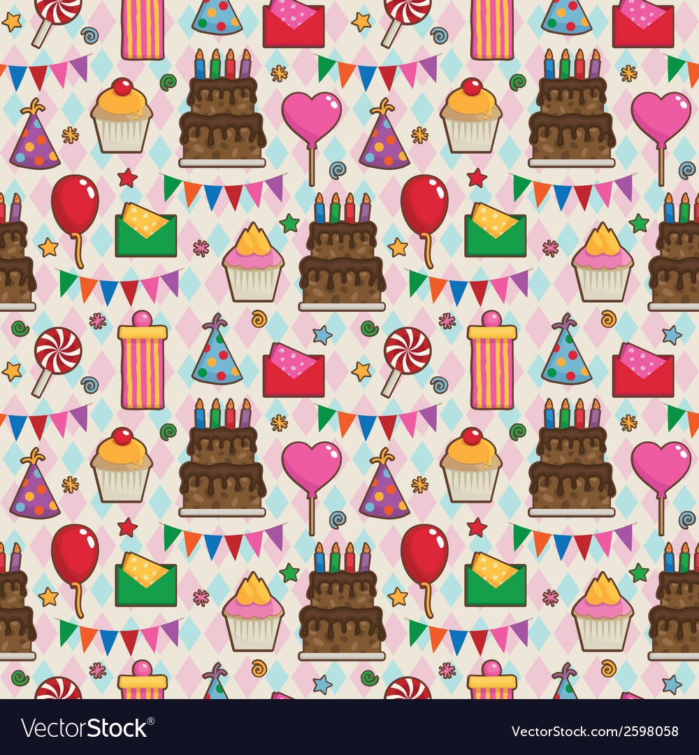 Birthday party pattern vector | Price: 1 Credit (USD $1)