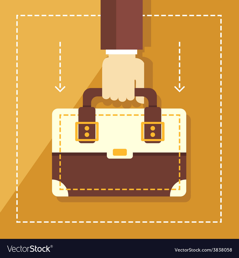 Business concept in flat style hand holding vector | Price: 1 Credit (USD $1)