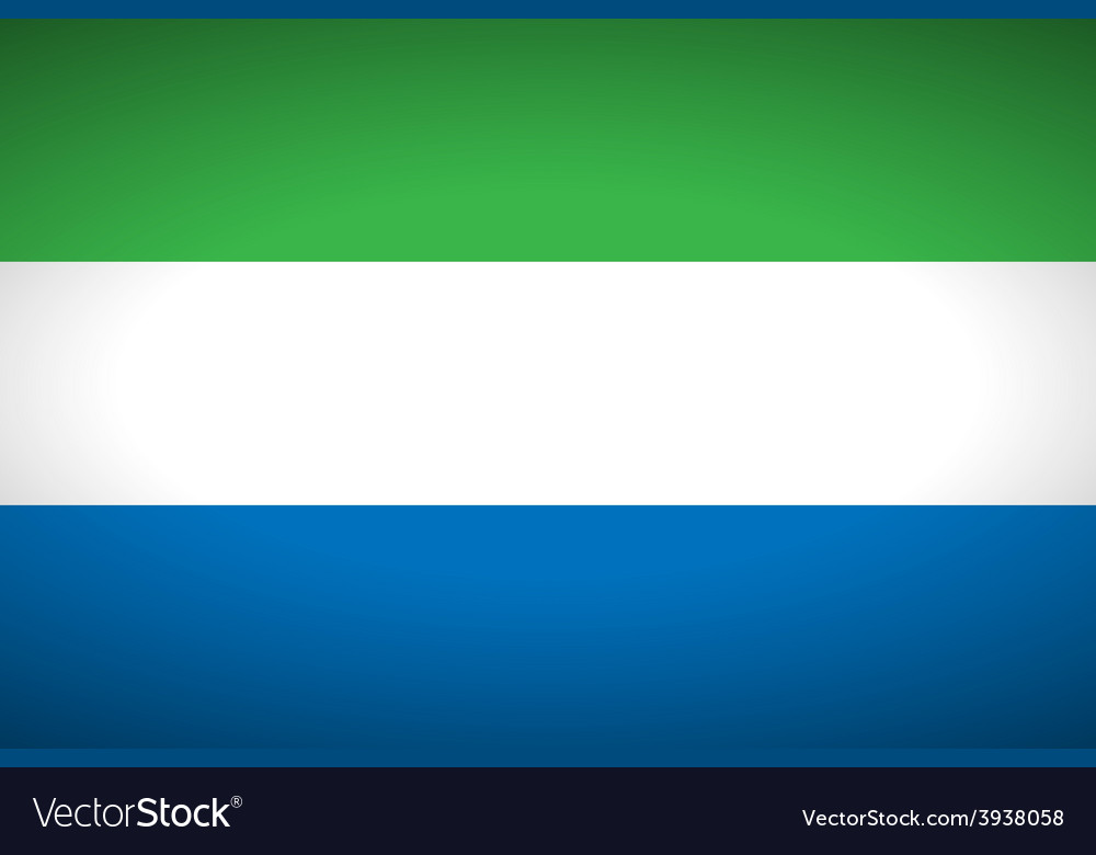 Flag of sierra leone vector | Price: 1 Credit (USD $1)