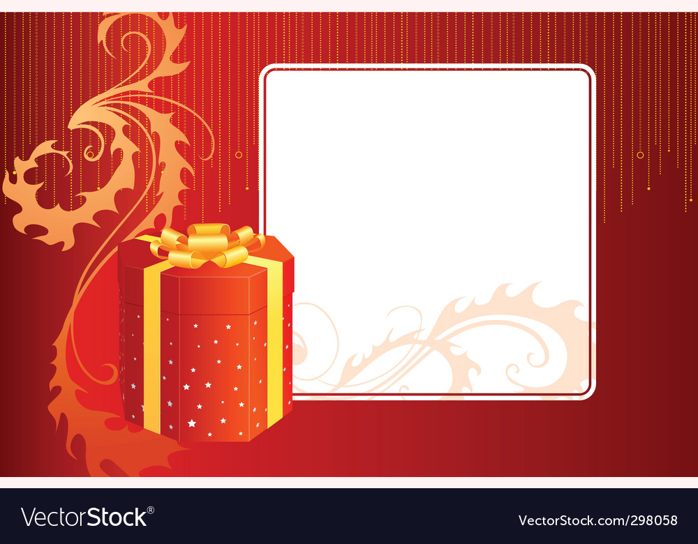 Gift box and card vector | Price: 1 Credit (USD $1)