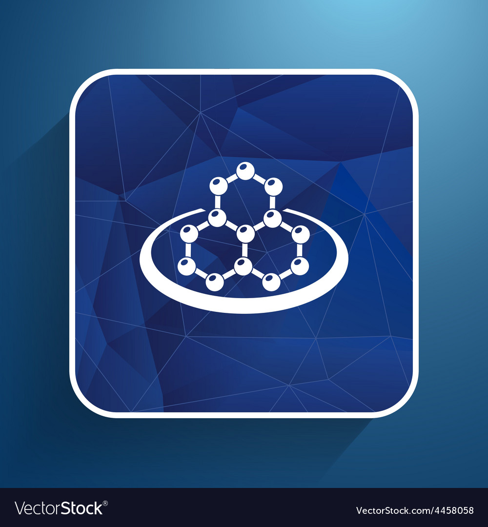 Icon molecular research chemistry medicine vector | Price: 1 Credit (USD $1)