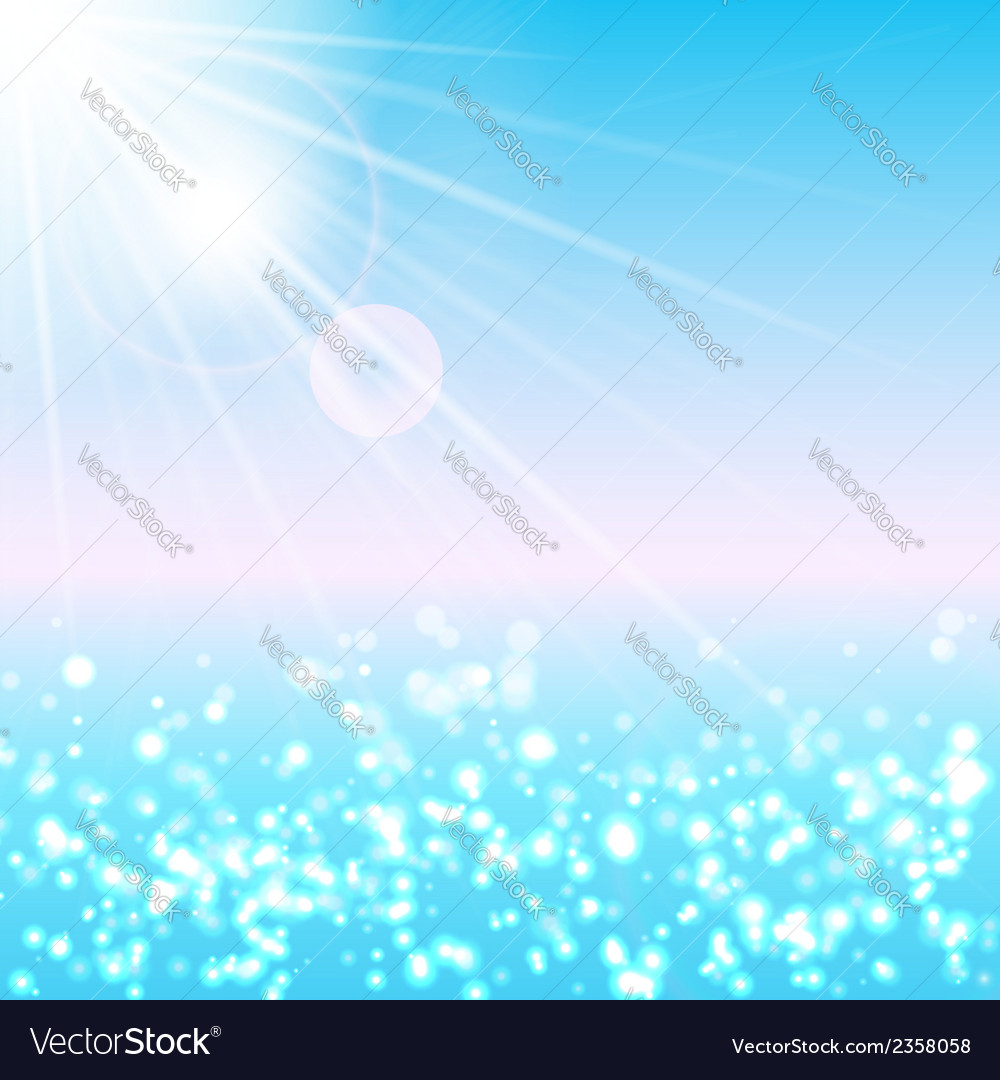 Summer sea vector | Price: 1 Credit (USD $1)