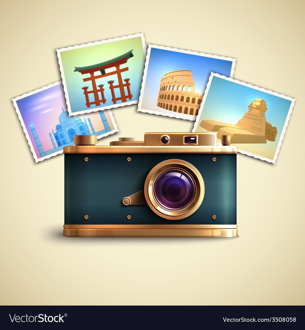 Travel photo background vector | Price: 1 Credit (USD $1)