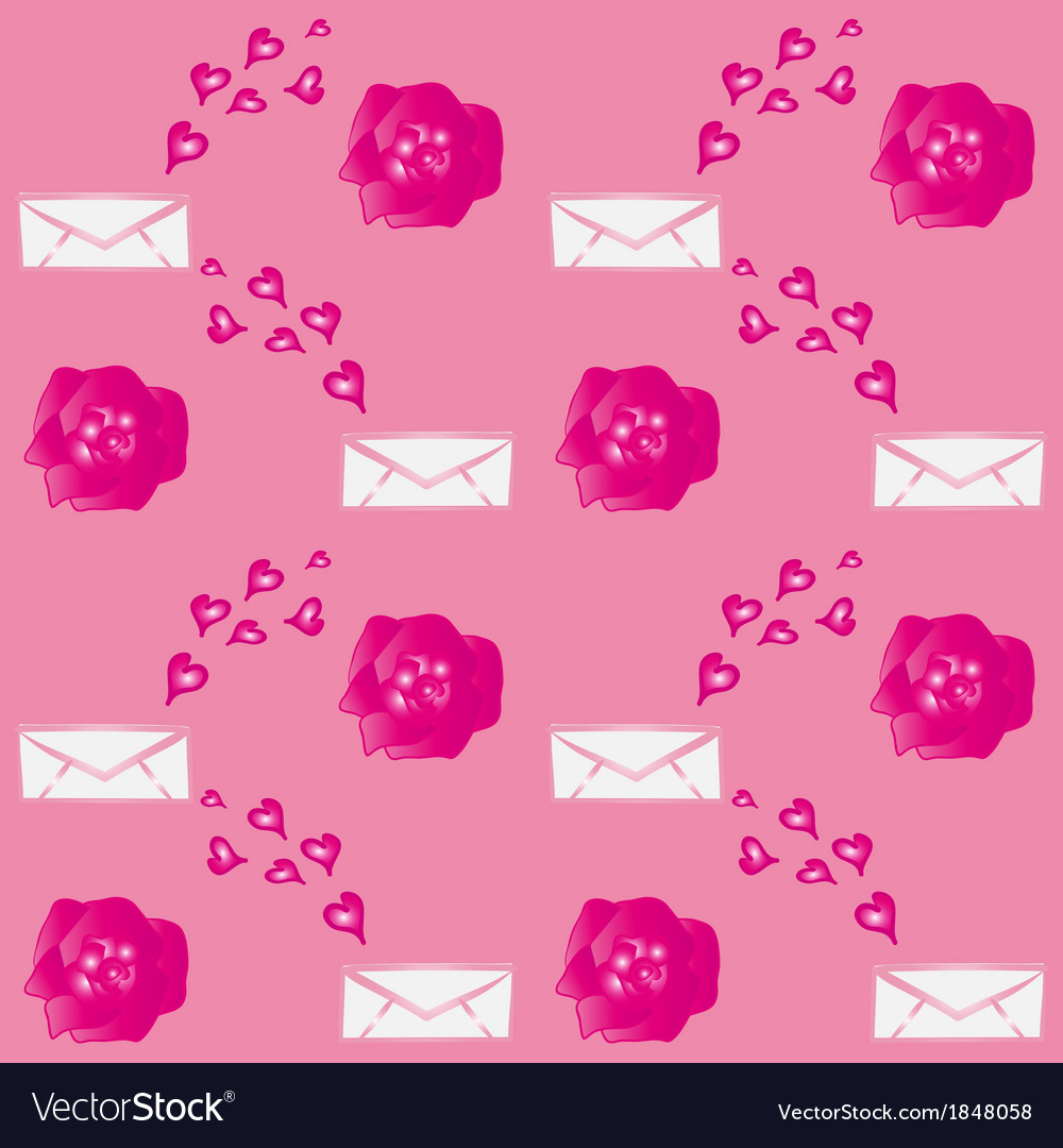 Valentine flowers envelopes vector | Price: 1 Credit (USD $1)