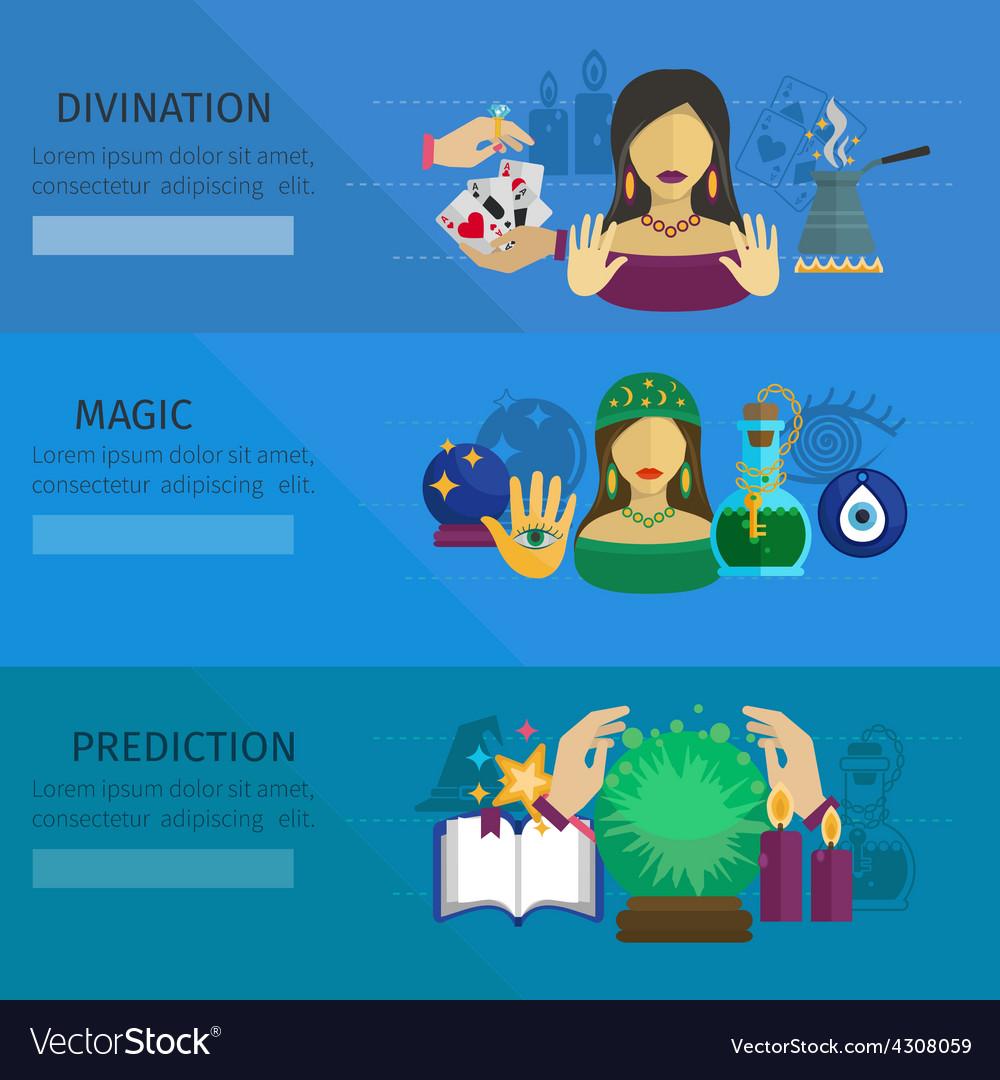 Fortune teller banner vector | Price: 1 Credit (USD $1)