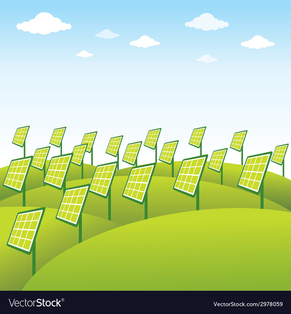 Green energy source solar panel background vector | Price: 1 Credit (USD $1)
