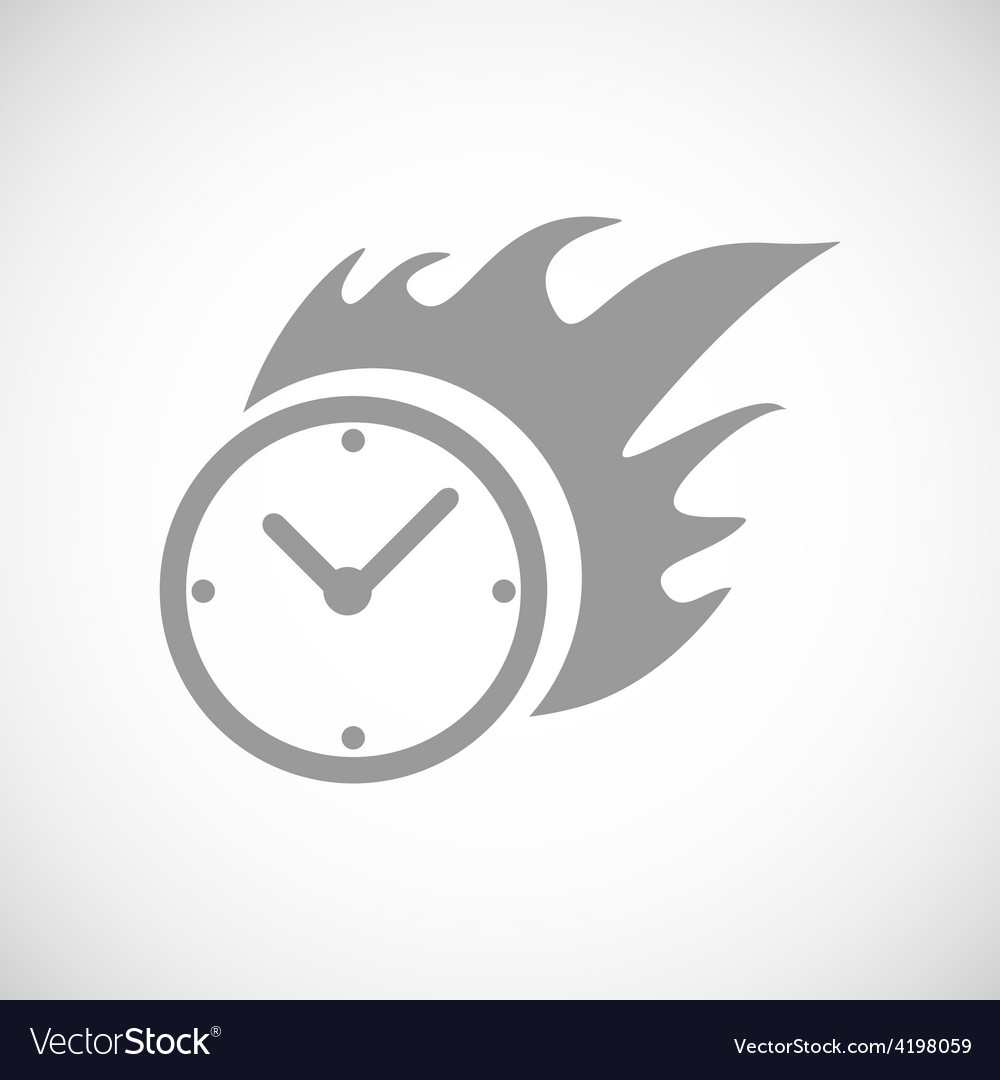 Hot clock black icon vector | Price: 1 Credit (USD $1)