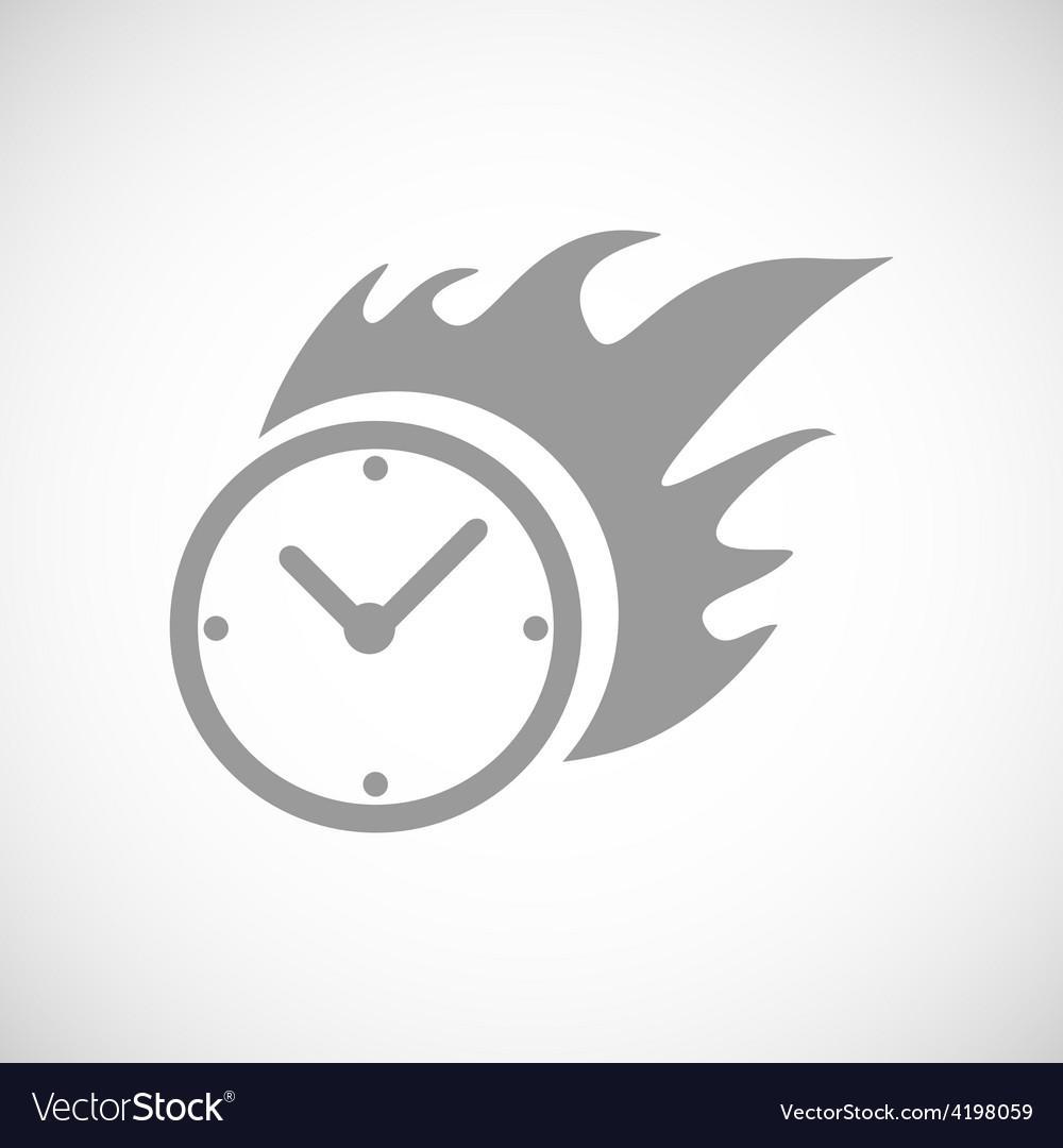 Hot clock black icon vector | Price: 1 Credit (USD $1)