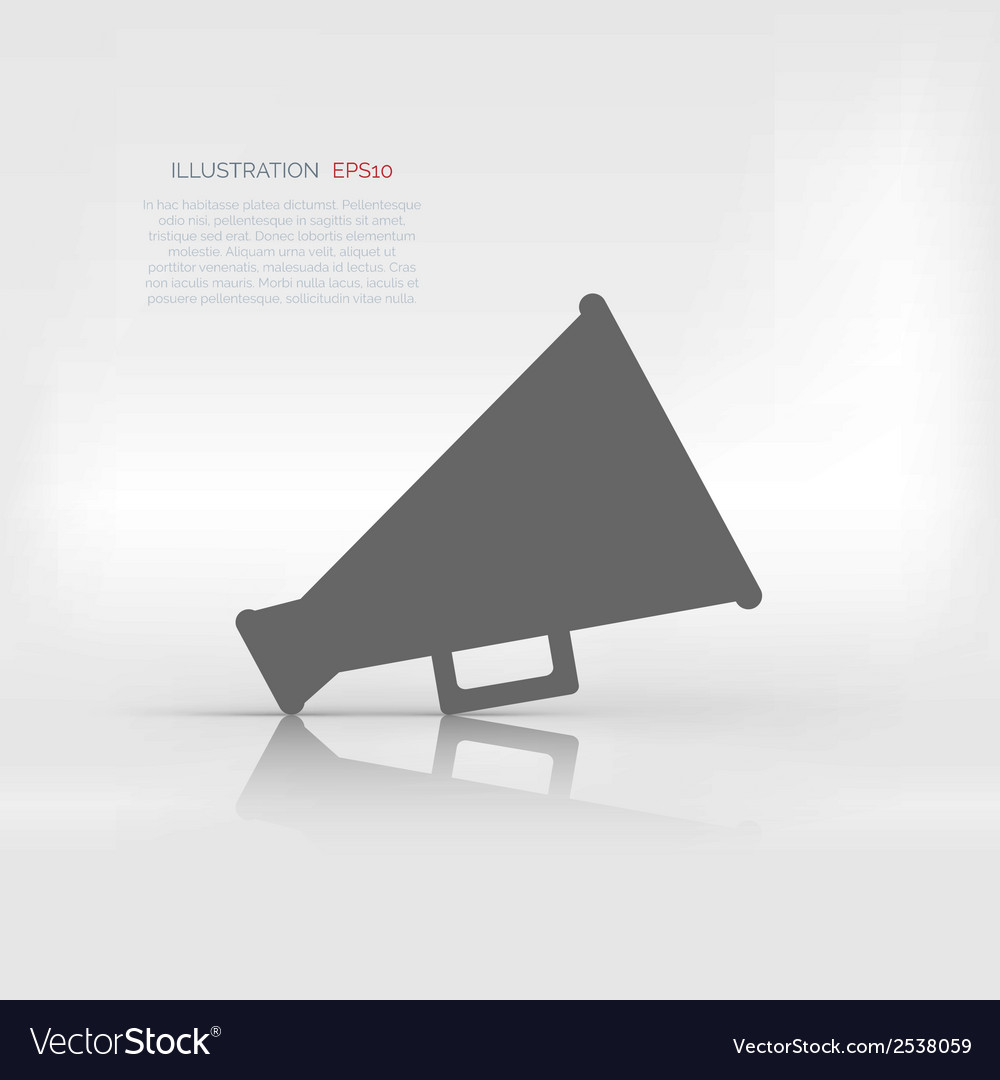 Megaphone loudspeaker icon loud-hailer symbol vector | Price: 1 Credit (USD $1)