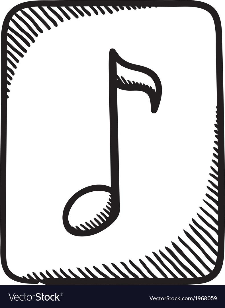 Multimedia music audio note symbol vector | Price: 1 Credit (USD $1)