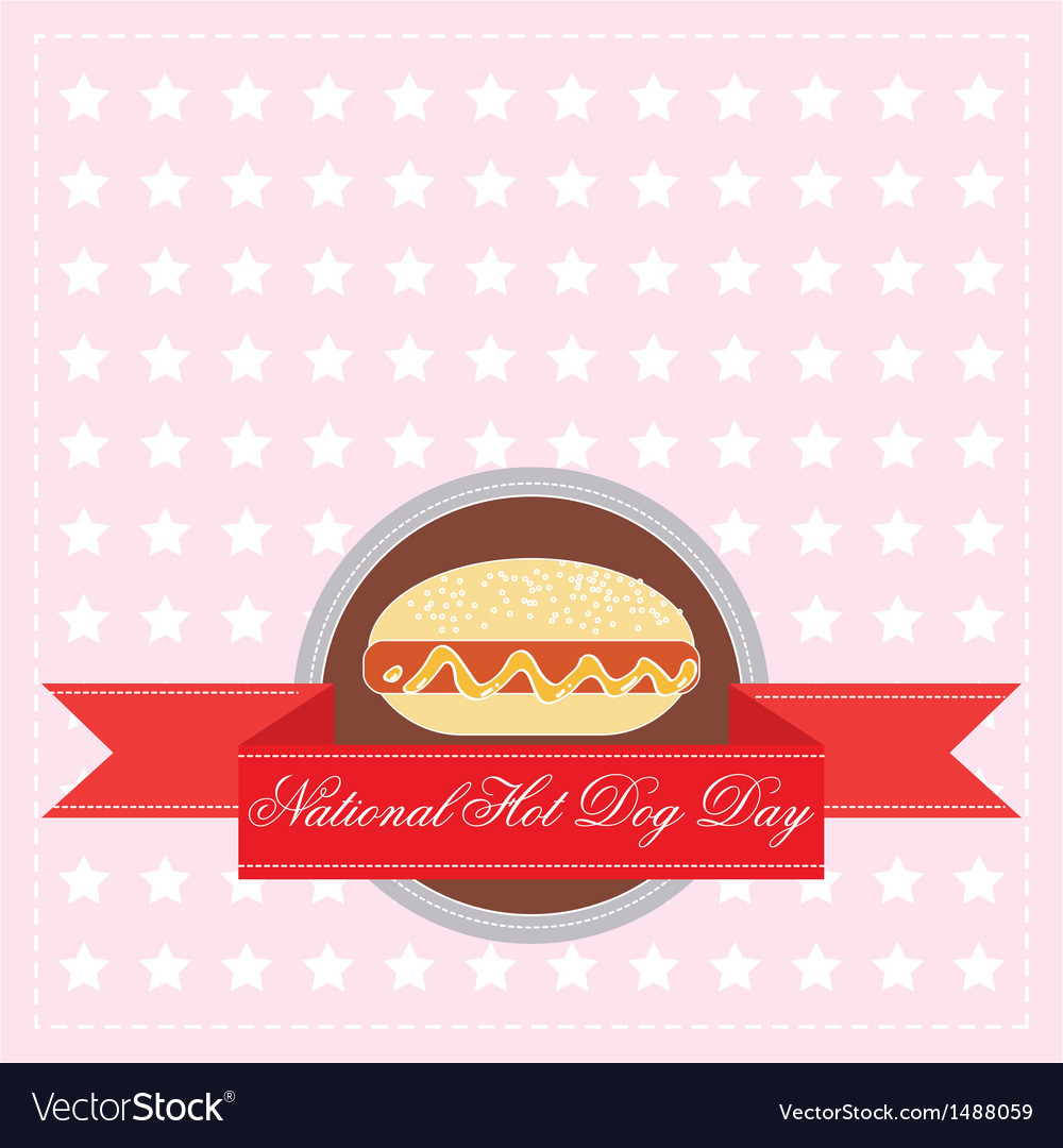 National hot dog day vector | Price: 1 Credit (USD $1)