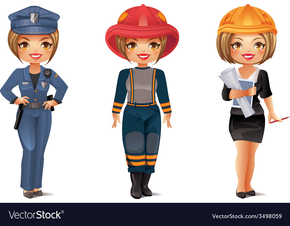 Professions set 6 vector | Price: 3 Credit (USD $3)