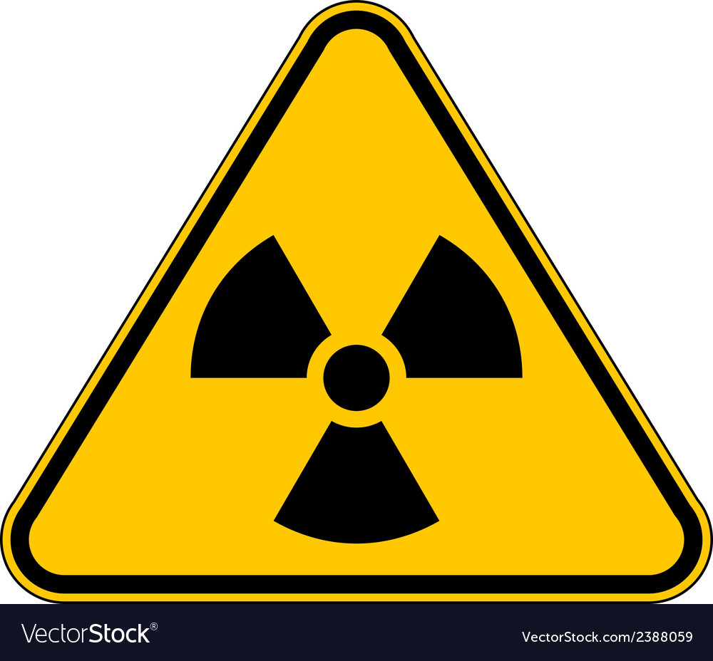 Radiation triangular sign vector | Price: 1 Credit (USD $1)