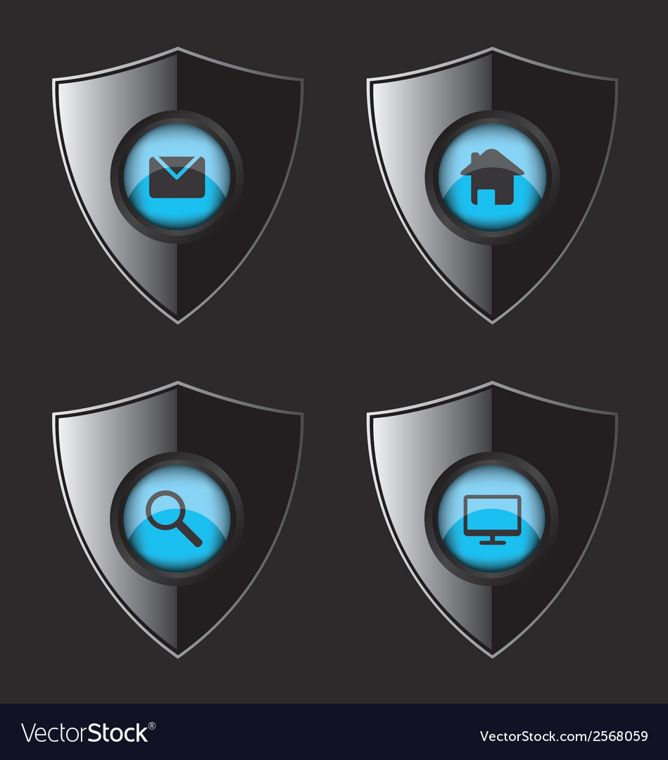 Shield web flat icons vector | Price: 1 Credit (USD $1)