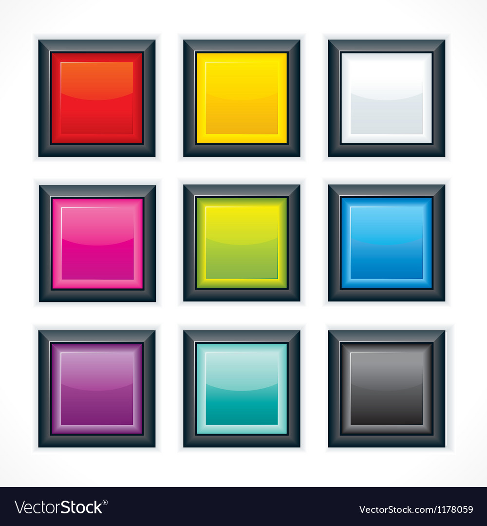 Square empty buttons vector | Price: 1 Credit (USD $1)