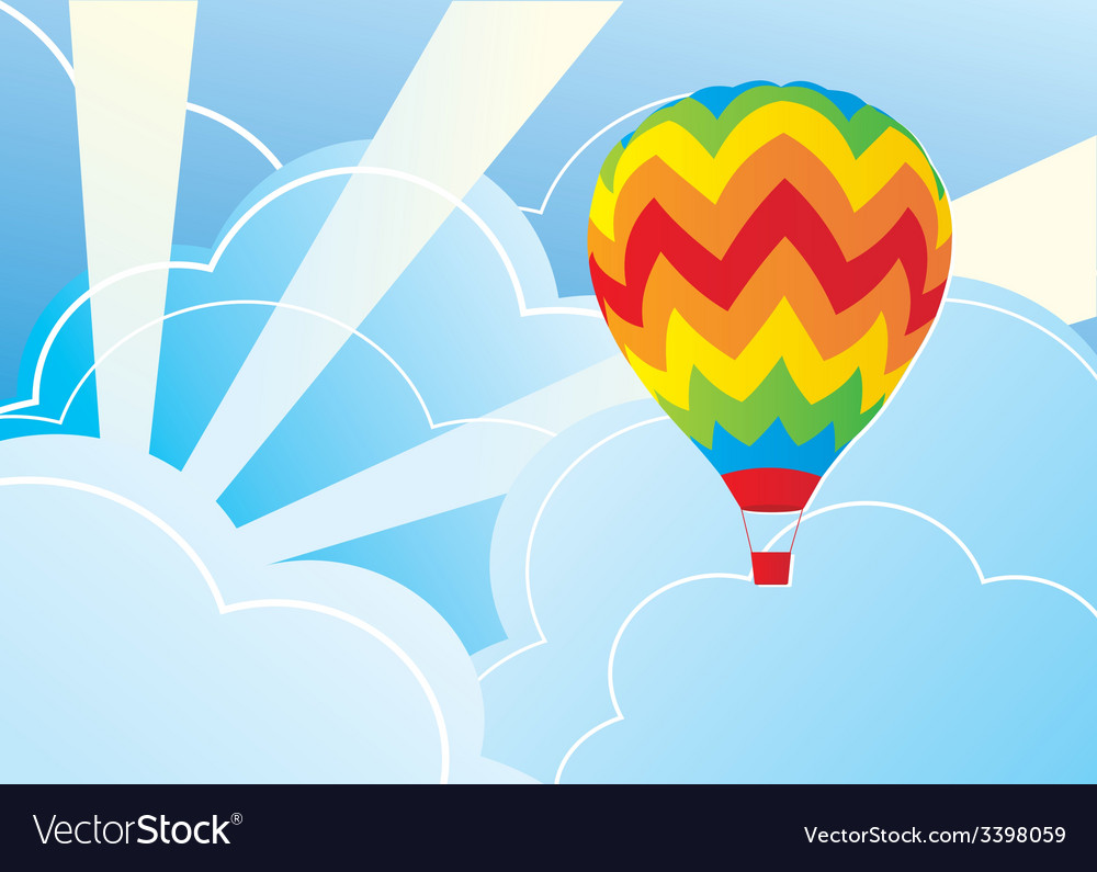 Wits air balloon and blue sky vector   Price: 1 Credit (USD $1)