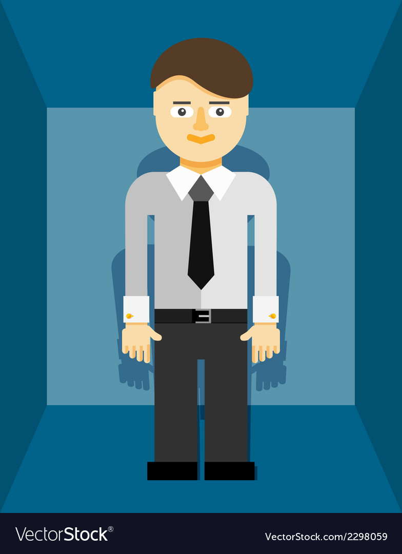 Young businessman icon vector | Price: 1 Credit (USD $1)