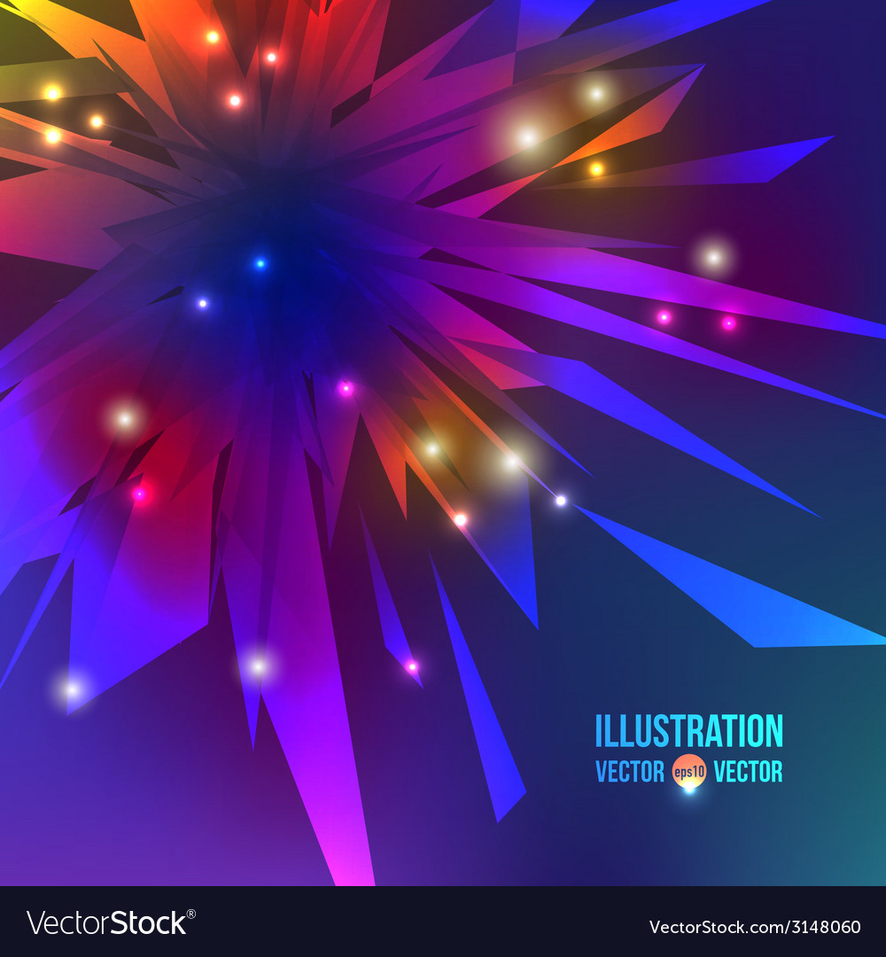 Abstract background of multicolored fragments vector | Price: 1 Credit (USD $1)