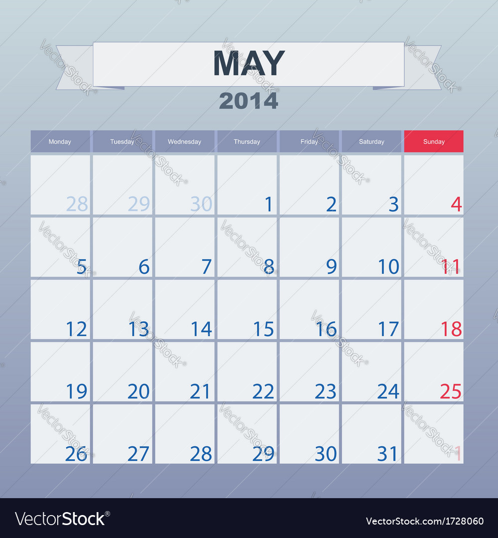 Calendar to schedule monthly march 2014 vector | Price: 1 Credit (USD $1)
