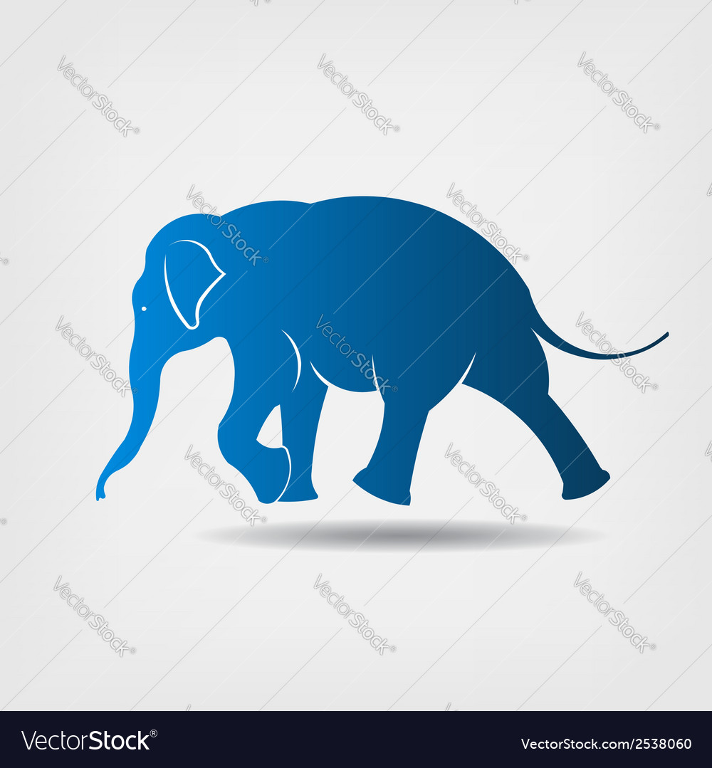 Elephant walking icon vector | Price: 1 Credit (USD $1)