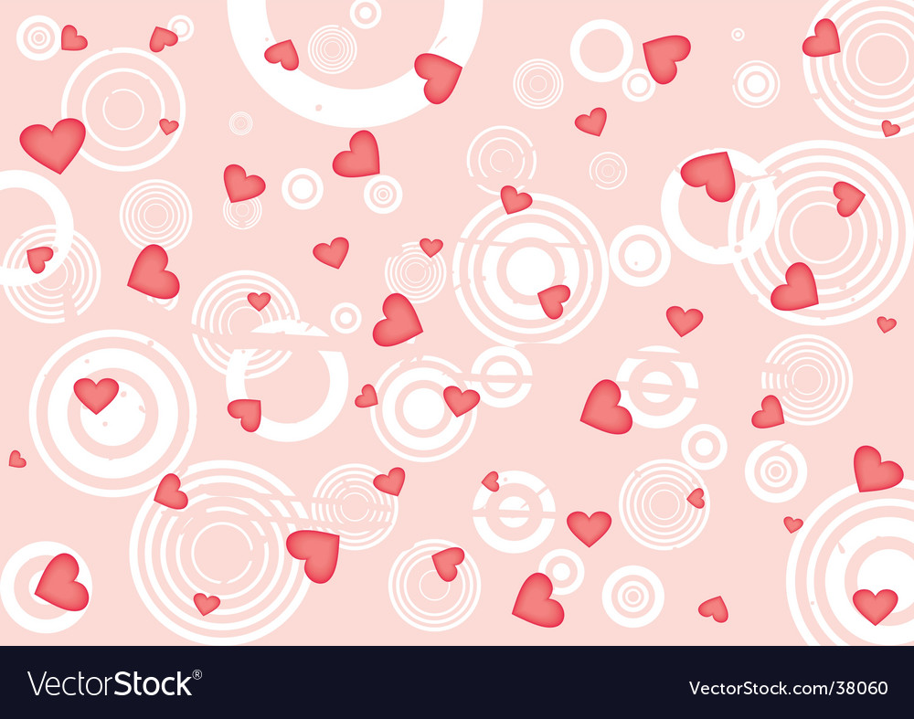 Grunge red hearts background vector   Price: 1 Credit (USD $1)