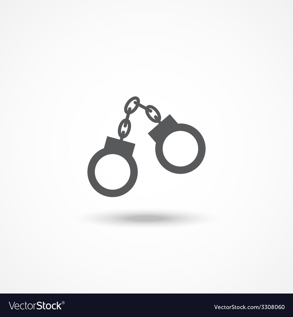 Handcuffs icon vector | Price: 1 Credit (USD $1)