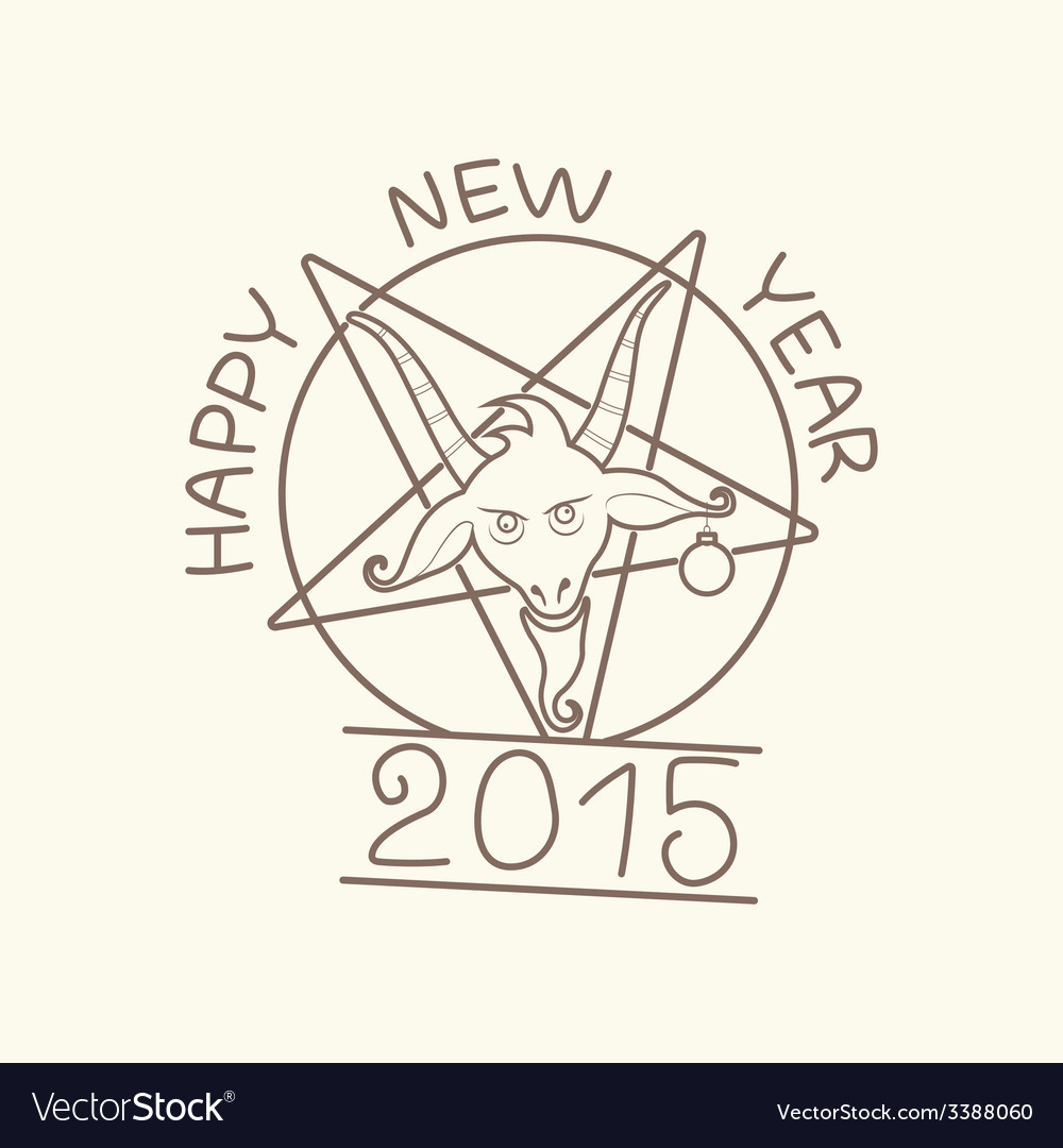 Happy new year of the goat vector | Price: 1 Credit (USD $1)
