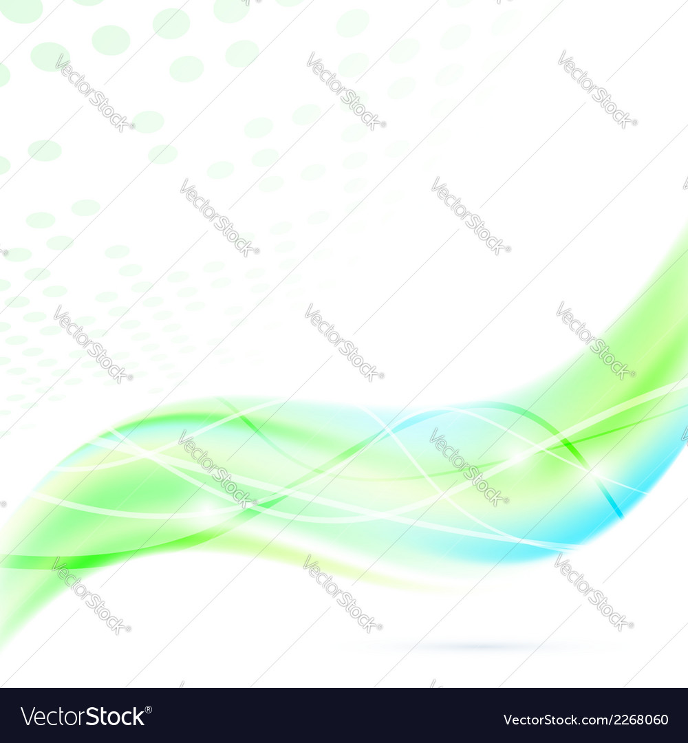 Modern abstract green fresh swoosh wave vector | Price: 1 Credit (USD $1)