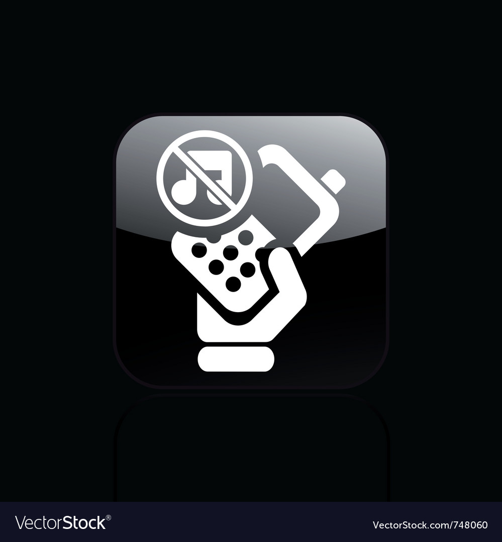Mute phone icon vector | Price: 1 Credit (USD $1)