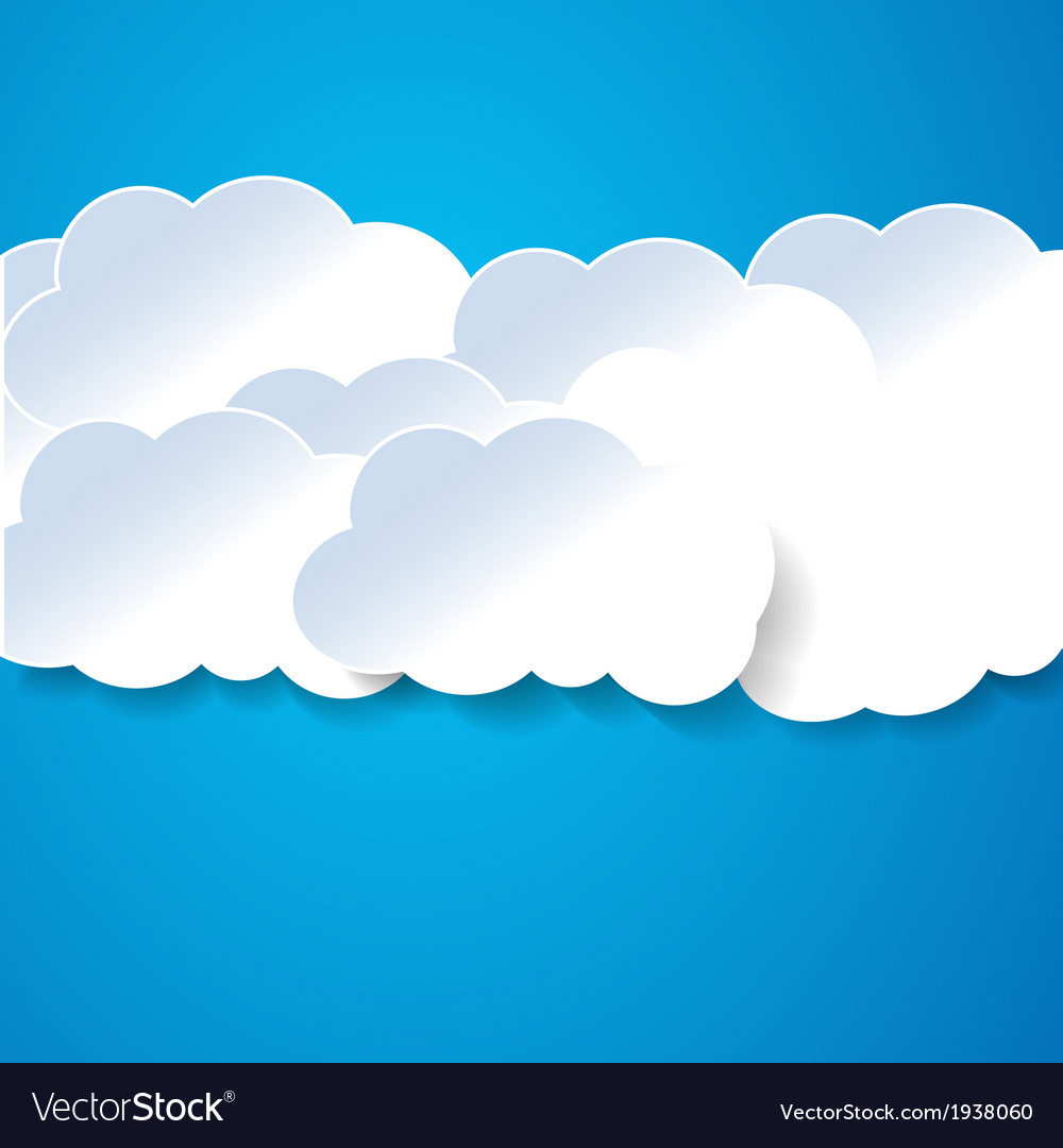 Paper clouds on the blue vector | Price: 1 Credit (USD $1)