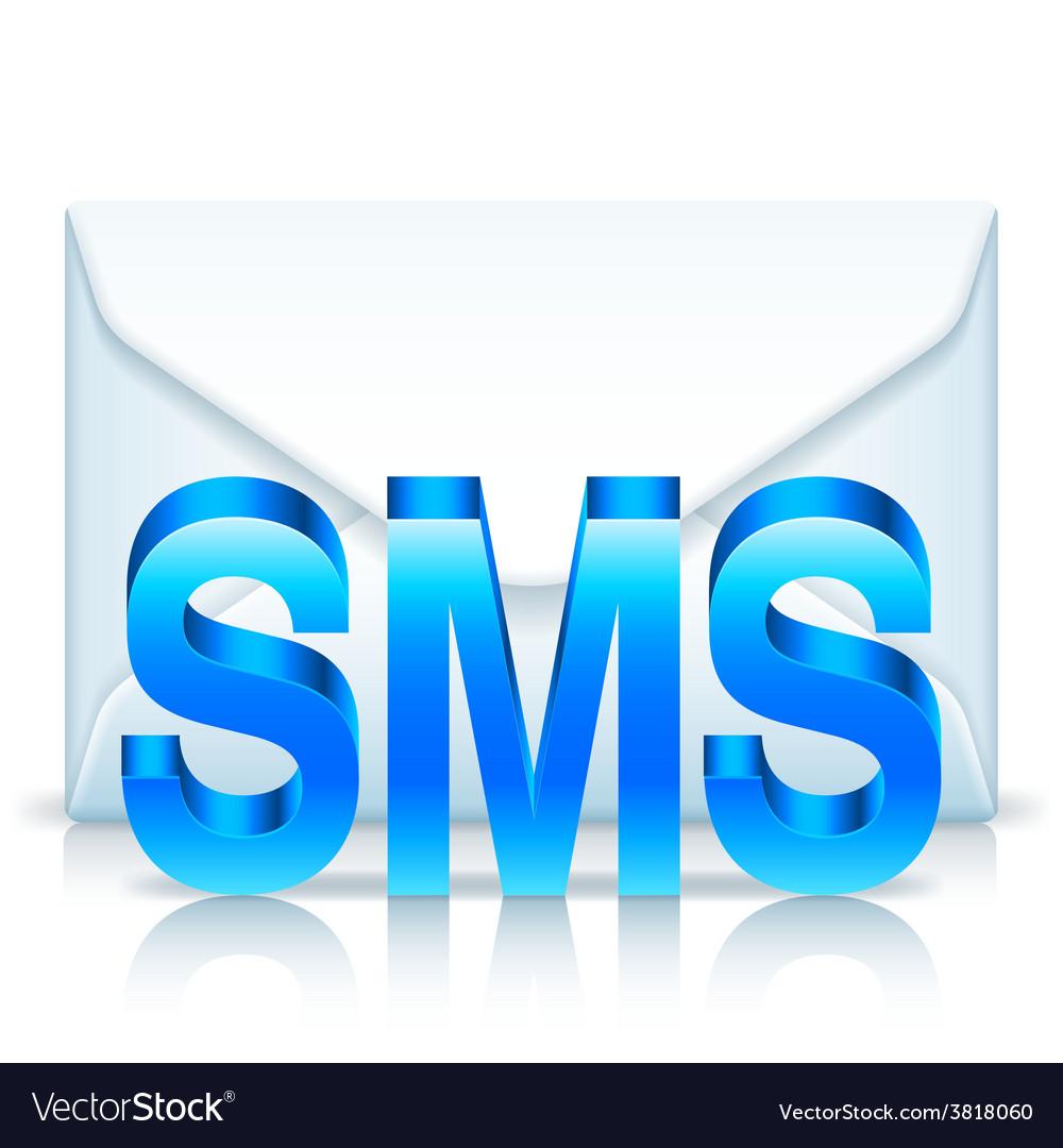 Sms envelope vector | Price: 1 Credit (USD $1)