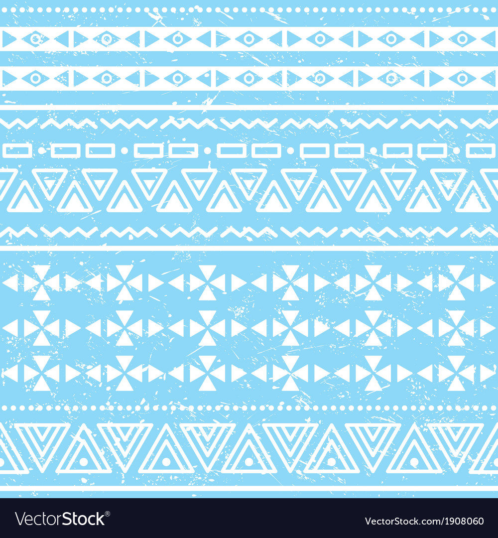 Tribal geometric aztec pattern - grunge retro vector | Price: 1 Credit (USD $1)