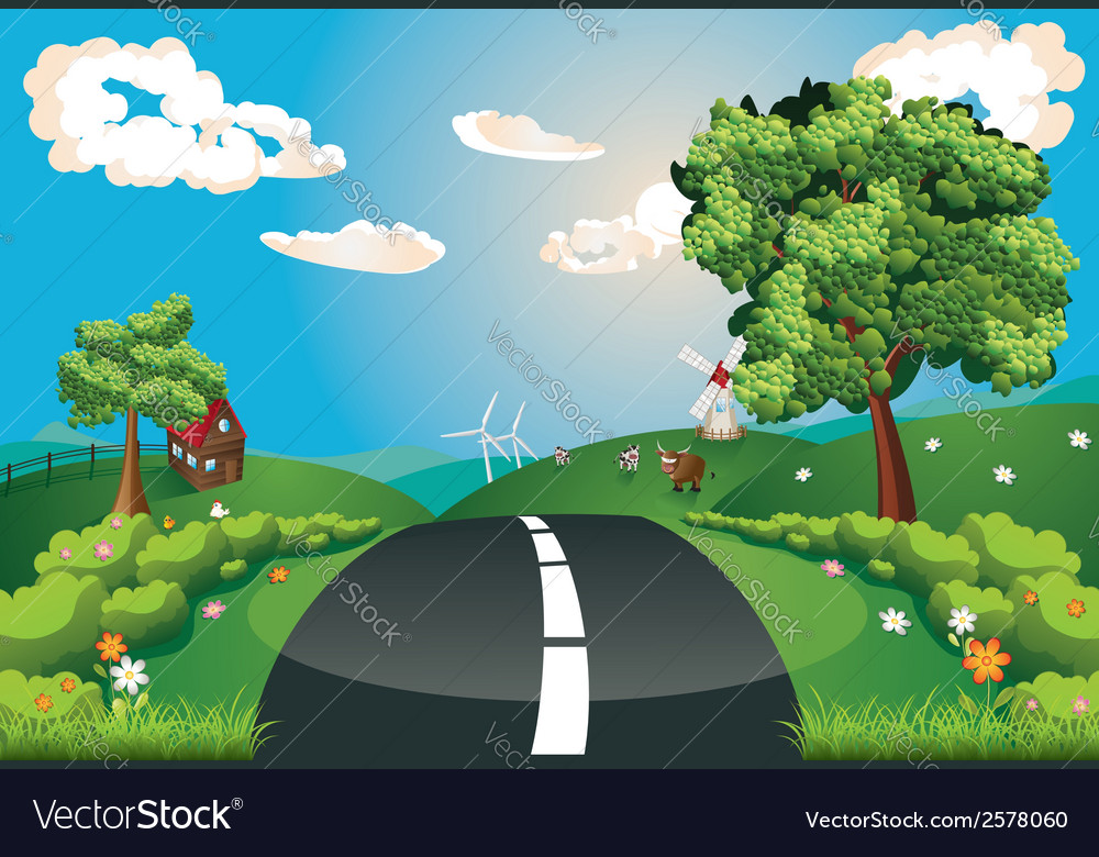Way through nature vector | Price: 3 Credit (USD $3)