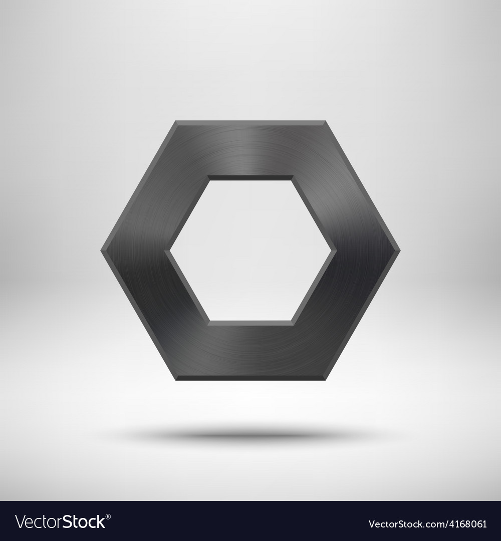 Black abstract polygon button template vector | Price: 1 Credit (USD $1)