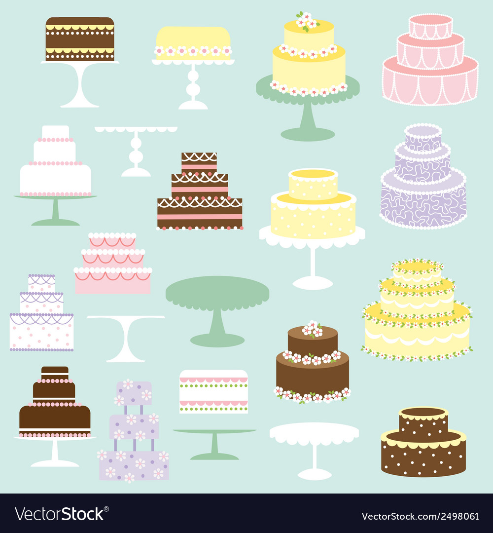 Cakes clipart vector | Price: 1 Credit (USD $1)