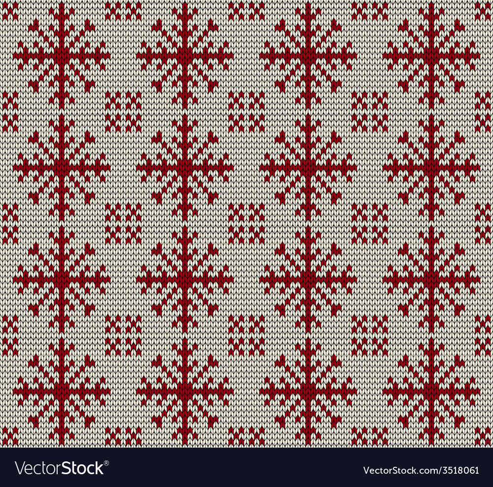 Christmas seamless knitted background vector | Price: 1 Credit (USD $1)