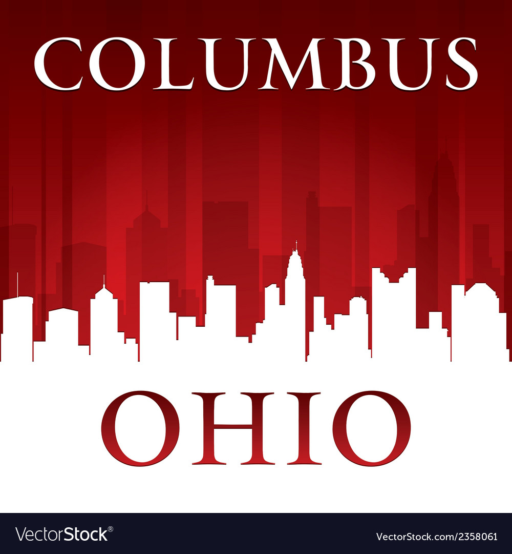 Columbus ohio city skyline silhouette vector | Price: 1 Credit (USD $1)