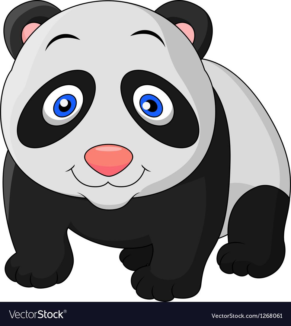 Cute baby panda cartoon vector   Price: 1 Credit (USD $1)