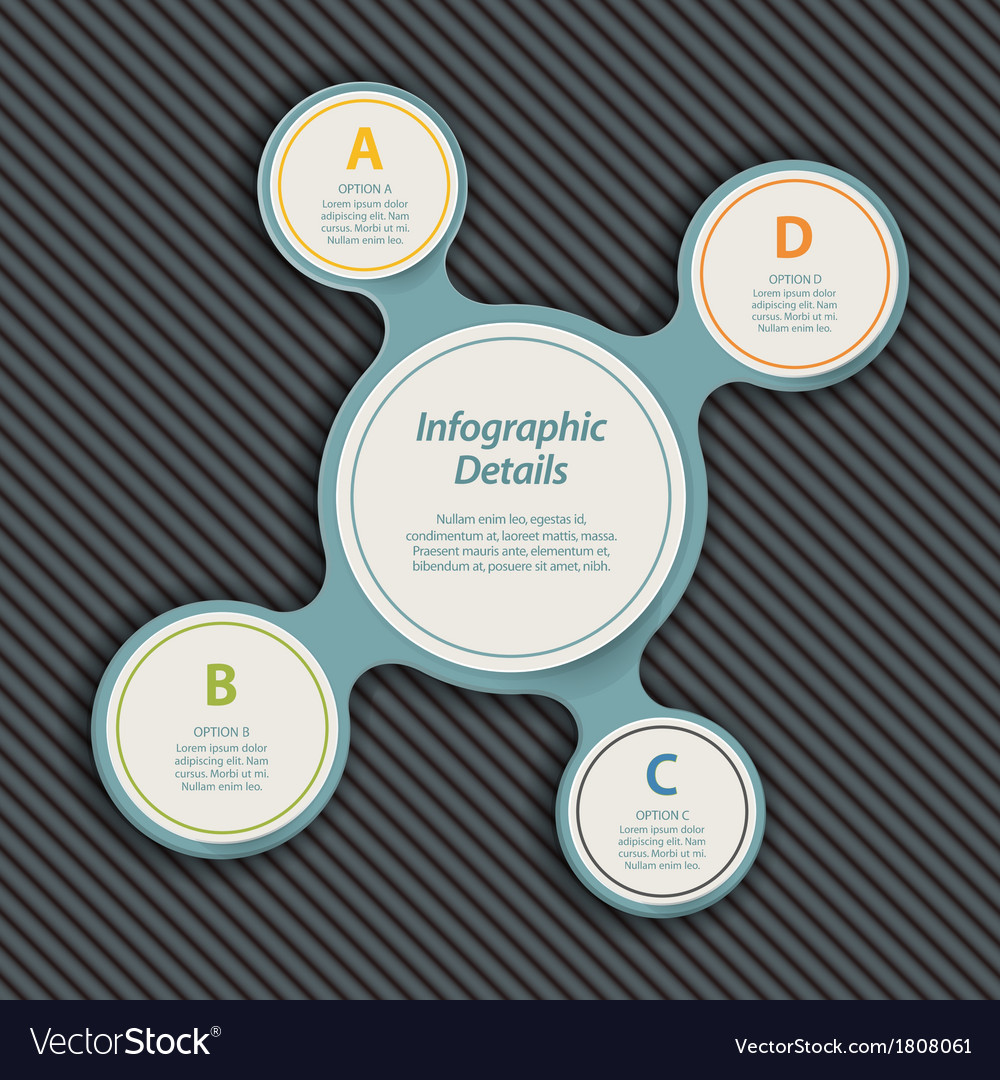 Metaball infographic blue vector | Price: 1 Credit (USD $1)